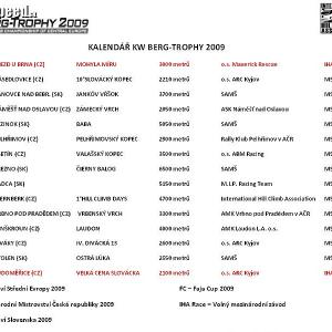 <p>KW Berg-Trophy 2009 kalendár</p>