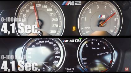 BMW M140I JE RÝCHLEJŠIE AKO BMW M2 V ŠPRINTE NA 270 KM/H