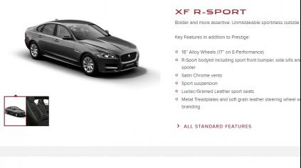Konfigurátor Jaguar trochu zaostáva za imidžom značky