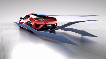 Honda NSX má výbornú aerodynamiku a nepotrebuje aktívne prvky