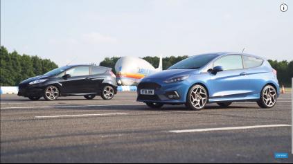 Drag race Fiesta ST, stará vs nová