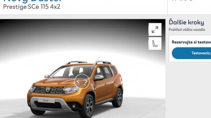 Porovnanie konfigurátorov: Dacia konfigurátor