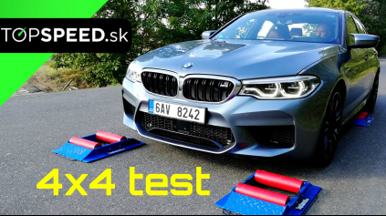 BMW M5 4x4 test inteligencie pohonu