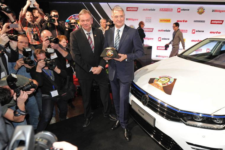 Europskym autom roka je VW Passat B8 nastastie