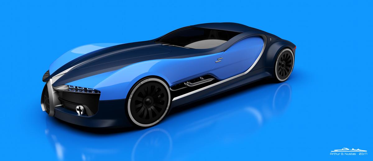 Moderné Bugatti Atlantic