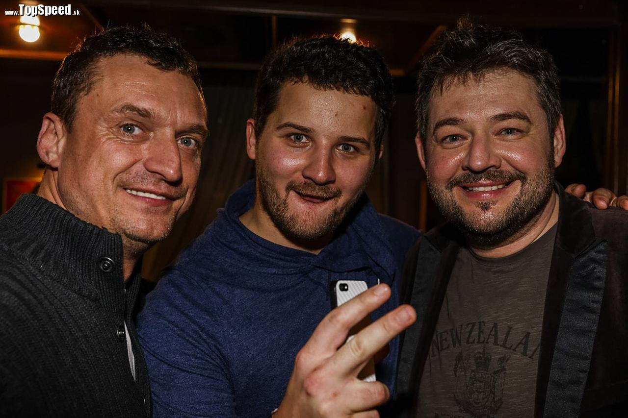 zľava: Marcel Forgáč, Štefan štófi Rosina a Michal Hudák.