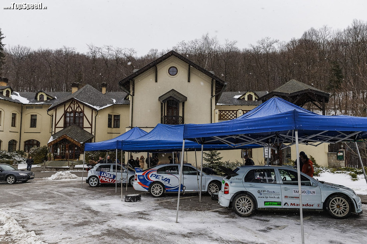 Ostrý vozový park: Škoda Octavia WRC a 2x Škoda Fabia WRC