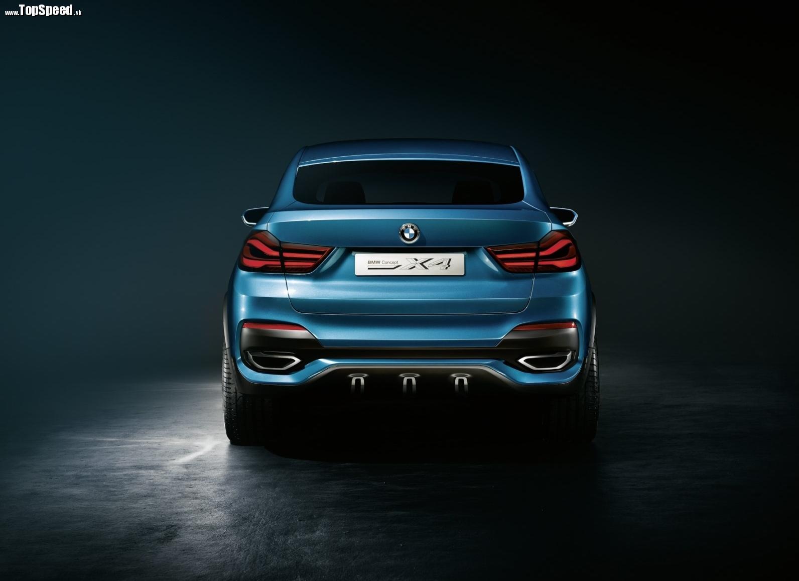 Zozadu je to nezameniteľné BMW. X4 Concept v sebe spája prvky BMW X6 a BMW 3GT.