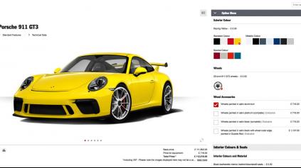 Porsche konfigurátor dočasne pozastavilo