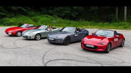 Veľké porovnanie: Mazda MX-5 typy NA, NB, NC a ND
