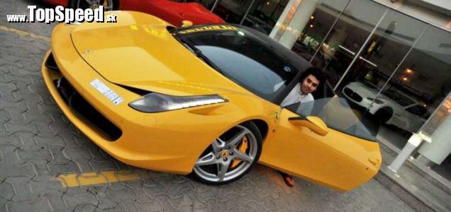 Už nebohé Ferrari 458 Italia, ďalšia zhorená Itália :(