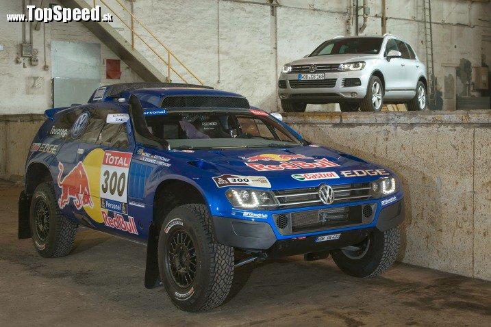 Volkswagen Race Touareg 3 vs sériový Touareg. Vidíte ten rozdiel? :)