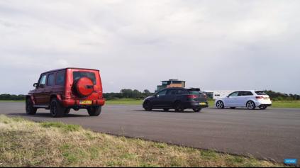 NEROVNÝ SÚBOJ? ŠPRINT LEON CUPRA R A AUDI RS3 A MERCEDES AMG G63