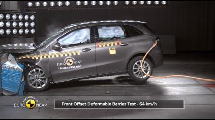 Euro NCAP Mercedes B zvládol na 5 hviezdičiek