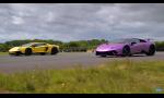 Šprint Lamborghini Aventador SV a Huracan Performante