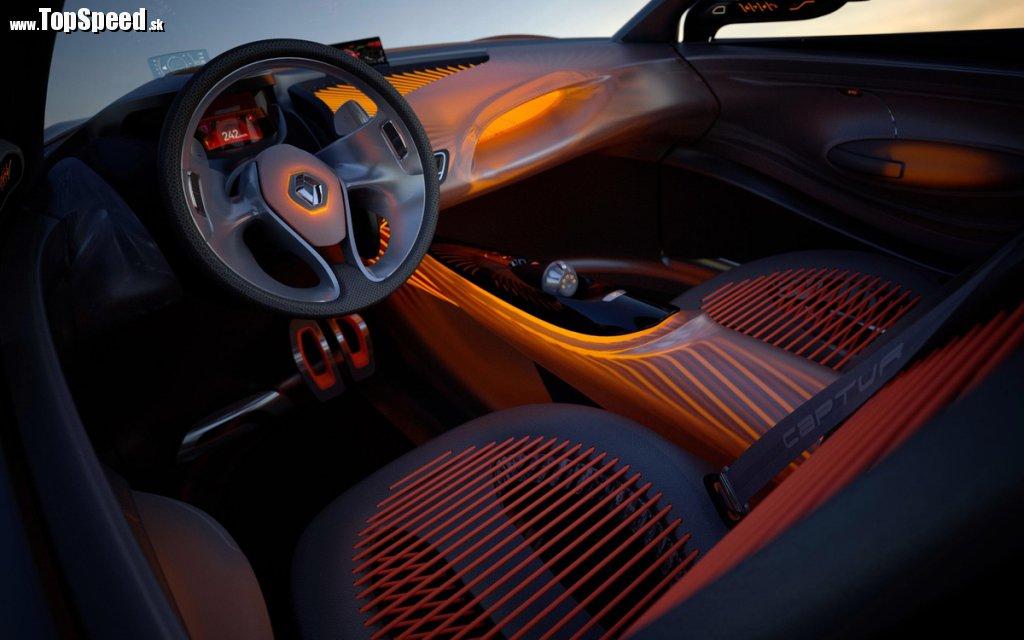 Interiér Renault Captur nesie stopy vodných športov