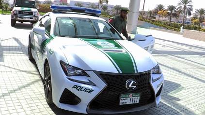 OSTATNÝ PRÍRASTOK NAJEXKLUZÍVNEJŠEJ POLICAJNEJ ESKADRY SVETA Z DUBAJA JE LEXUS RC F