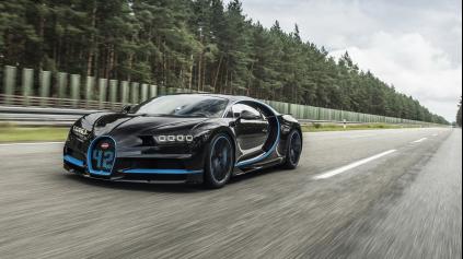 Montoya v Bugatti Chiron vytvoril rekord 0-400-0 km/h