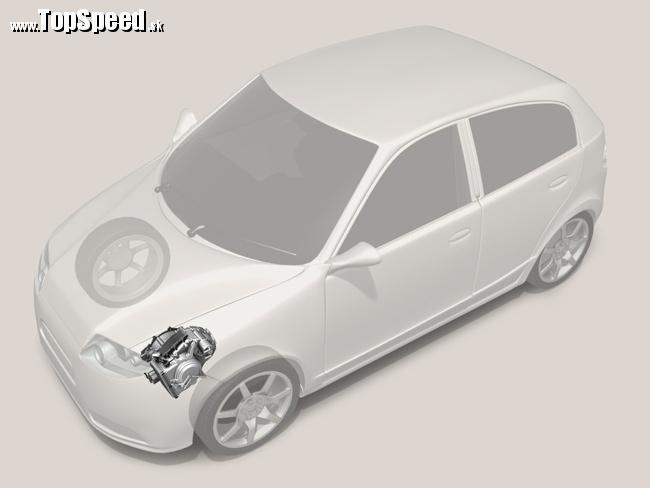 9 rýchlostná automatická prevodovka ZF uložená v automobile