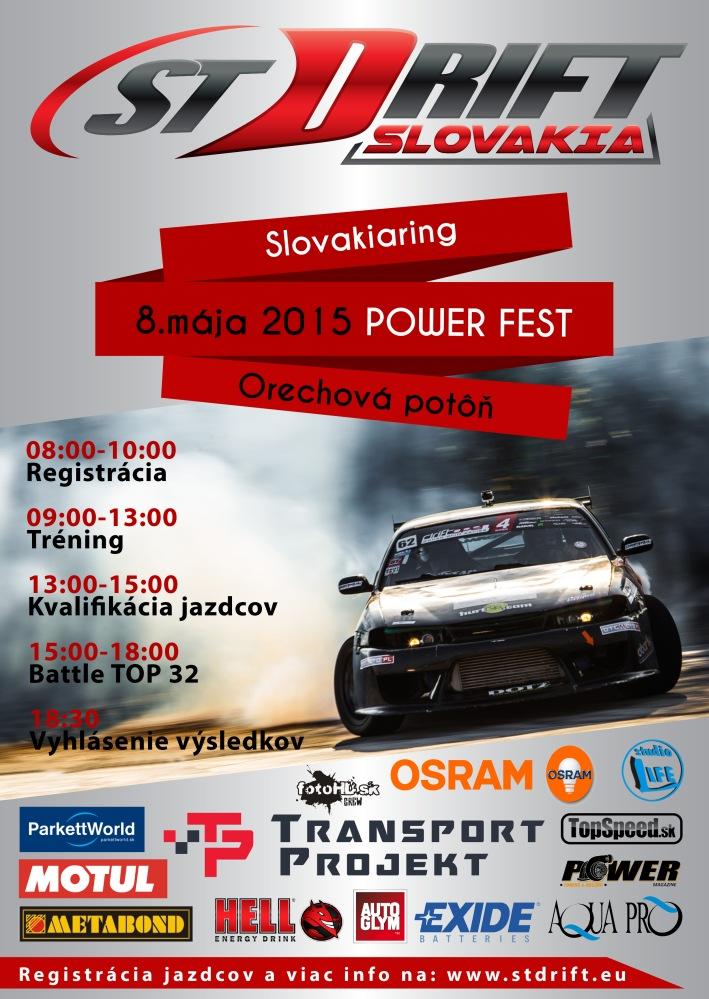 ST Drift SlovakiaRing v ramci PowerFest 2015 bude 8. maja