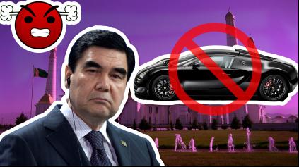 V Turkménsku zakázali čierne autá