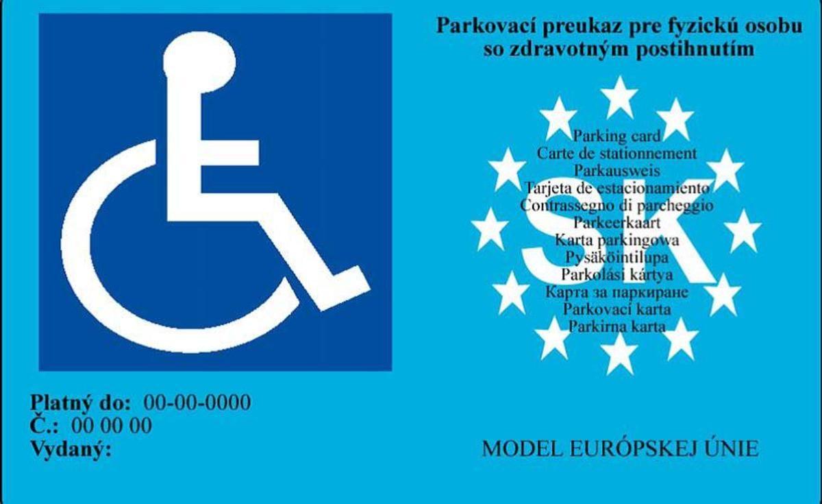 Parkovaci Preukaz Ztp Co By Ste Mohli A Mali Vediet Topspeed Sk