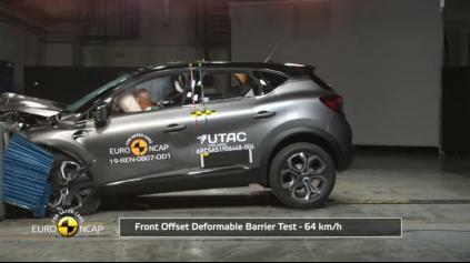 Renault Captur Euro NCAP dosiahol na plný počet 5 hviezd