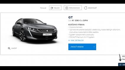 Konfigurátor Peugeot je jednoduchý a skvelý