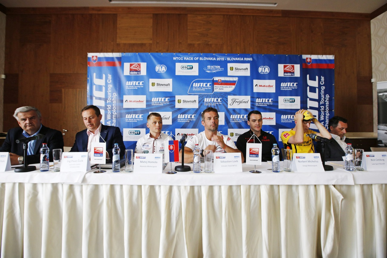 WTCC SlovakiaRing press conference