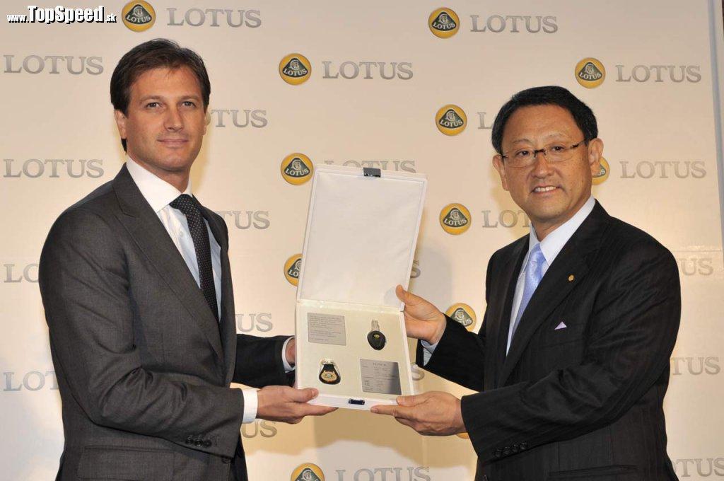 Šéf Lotus, Dany Bahar, a šéf Toyoty Akio Toyoda