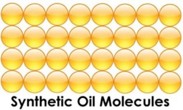 struktura molekul syntetickeho oleja