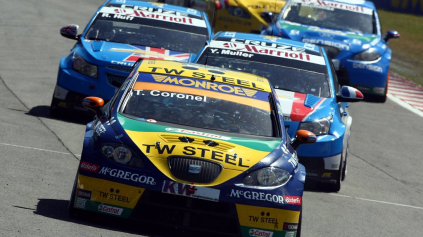 WTCC V BRANDS HATCH PRE CHEVROLET A BMW