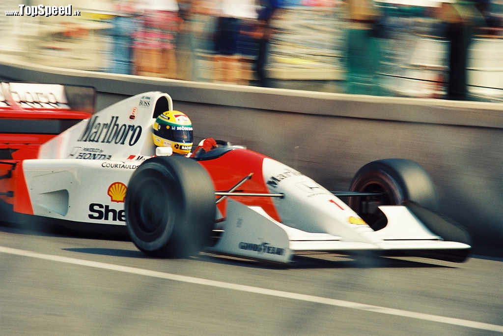 Senna počas tréningu na Monaco Grand Prix v roku 1992. (c) Iwao/kemeko1971
