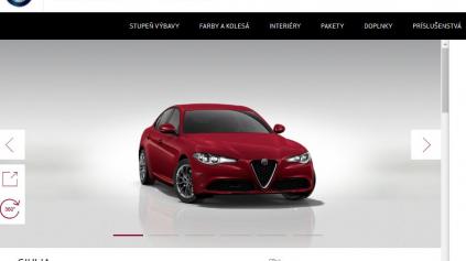 Porovnanie konfigurátorov: Alfa Romeo konfigurátor