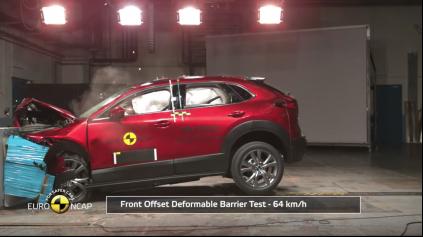 Mazda CX-30 Euro NCAP prešla na maximum bodov