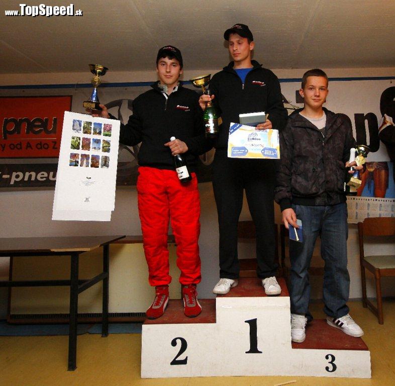 Traja najlepší Juniori na posledných pretekoch X. AZ pneu AutoSlalom TopSpeed.sk 2010 v Trebaticiach