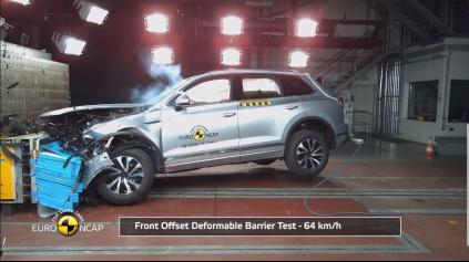 EuroNCAP crashtest VW Touareg zvládol na 5 hviezdičiek