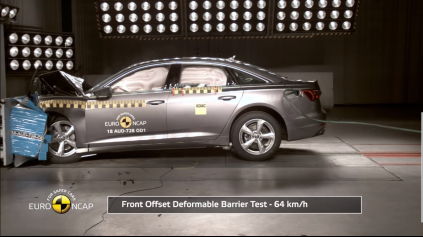 EuroNCAP crashtest Audi A6 ukázal bezpečnosť novej limuzíny