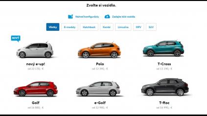 Konfigurátor Volkswagen nepatrí k najrýchlejším, ale nesklamal