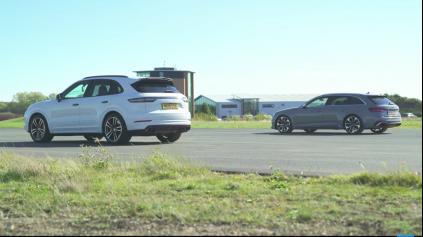 Šprint Cayenne Turbo a Audi RS4, opäť dva rozdielne svety