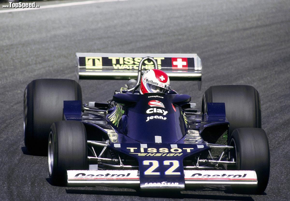 Na obálke knihy Dejiny automobilových pretekov bol borec Clay Regazzoni