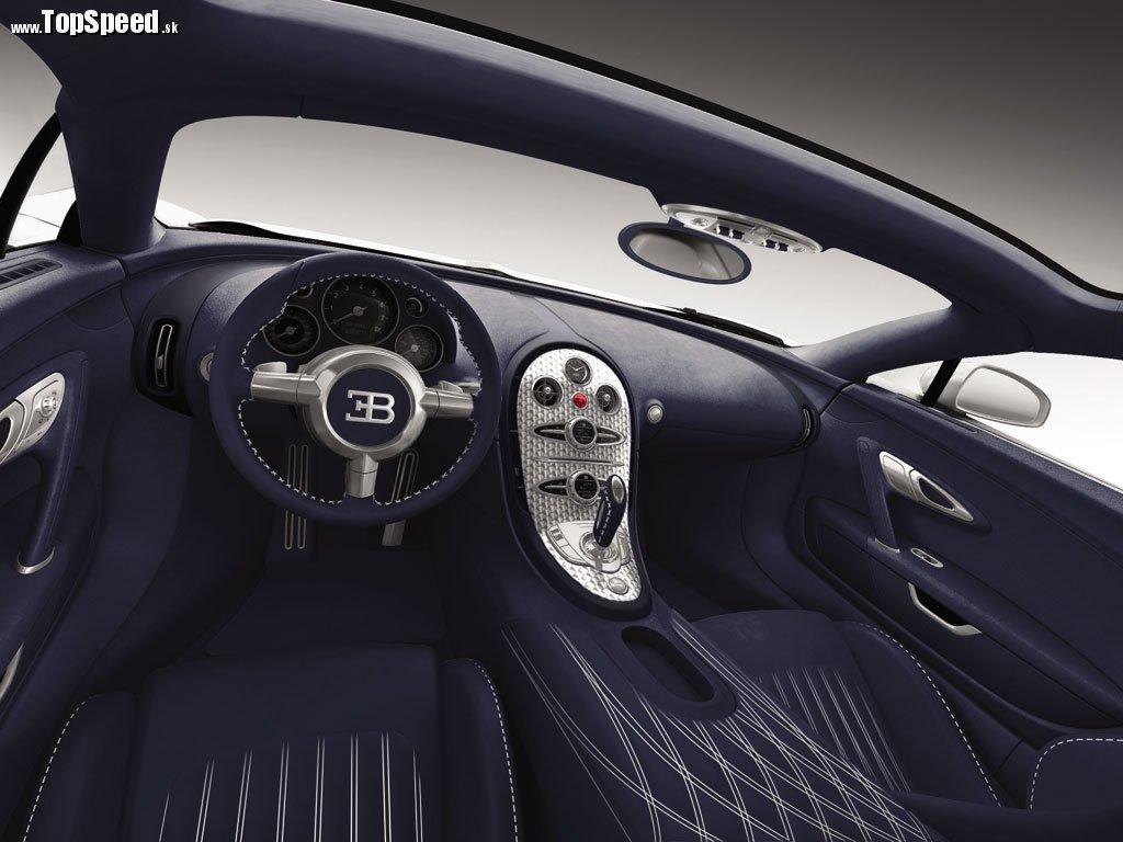 Bugatti Veyron Grand Sport White Matt Blue Carbon