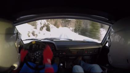 Šesťvalcové Porsche 914 na zasneženej erzete? Tak to áno!