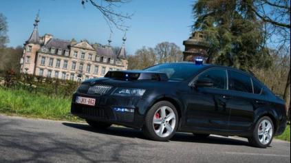 Belgický policajný KITT je Škoda Octavia RS