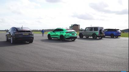 DRAG RACE SUV, OD LAMBORGHINI PO TESLU MODEL X
