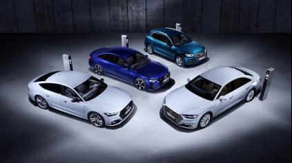 Nové modely Audi plug-in hybrid v Ženeve