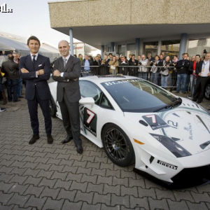 <p>Predstavenie Super Trofeo najpovolanejšími CEO Lamborghini - S.Winkellmann a CEO Blancpain A. Hayek</p>