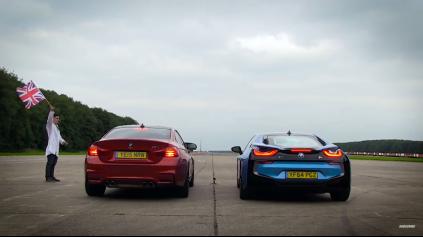 Šprint BMW M4 vs. BMW i8