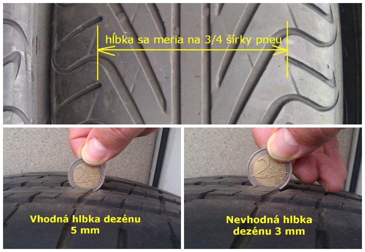 ak pneu nema aspon 4 mm dezen, radsej ich nepouzivajte