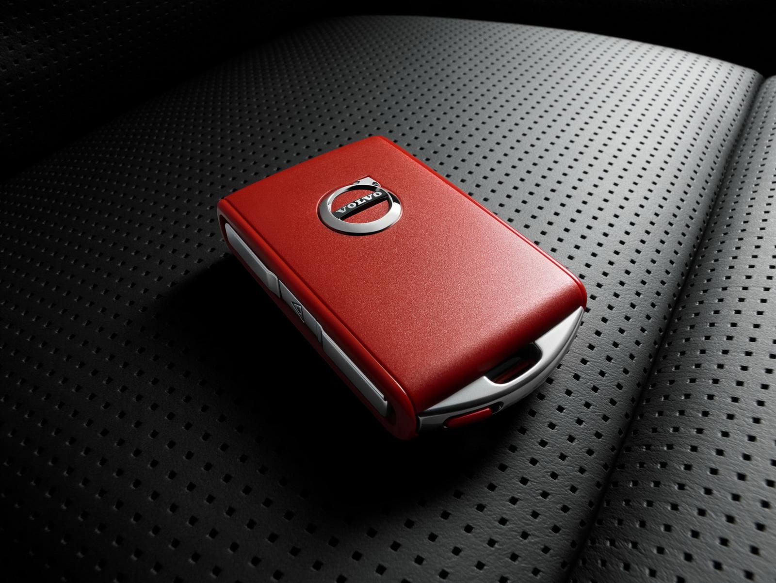 Volvo červený kľúč